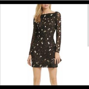 DVF Diane Von Furstenberg Black Magnetic Dress E12